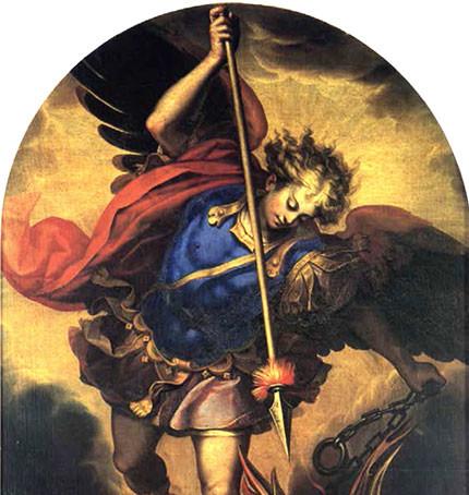 San Michele di Guido Reni, in San Petronio a Bologna (particolare)